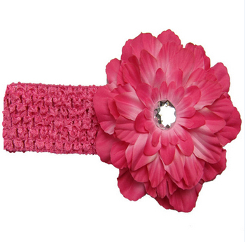 13 Colors Hot Selling Cheap Kids Hair Accessories With Headband And Tree Peony Flower Children Headband A003-2(China (Mainland))