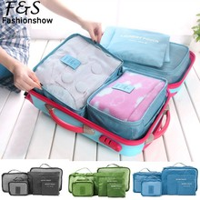 6PCS Luggage & Travel Bags Set Clothes Organizer Large Medium Small Size Pouch Handbag Suitcase Colorful Bag(China (Mainland))