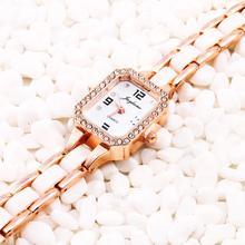 2015 para mujer de la alta calidad / mujeres reloj pulsera de Metal del cuarzo del diamante vestido reloj pulsera relojes estudiante temperamento