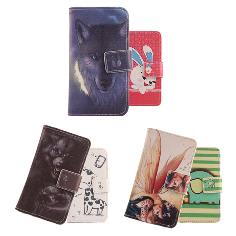 """Case For Yezz ANDY 5EI 5.0"""" Cartoon Pattern Accessories Book Design Flip PU Leather Mobile Phone Cover Skin Protection Bag(China (Mainland))"""