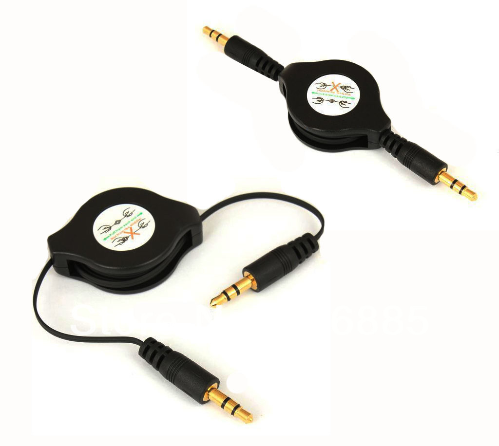 Car AUX JACK OUT Cable For MP3 Player Ipod Nano CD MD(China (Mainland))