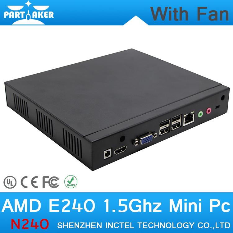 2G RAM Cheap Slim Mini Ubuntu PC with Fan Support Wifi PC Station Thin Client<br><br>Aliexpress