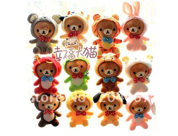 2016 New RILAKKUMA STUFFED DOLL 12 zodiac plush animal toys 20cm Girlfriend Gift 12pc/set L0133(China (Mainland))