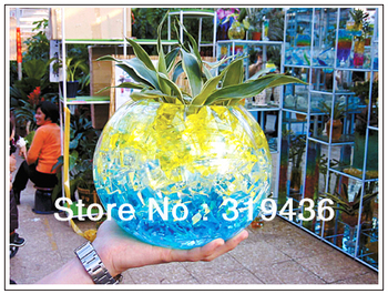 2013 free shipping (200bags/lot)) Hottest inflatable crystal soil mud floral water beads pearl hydrogel for garden decoration