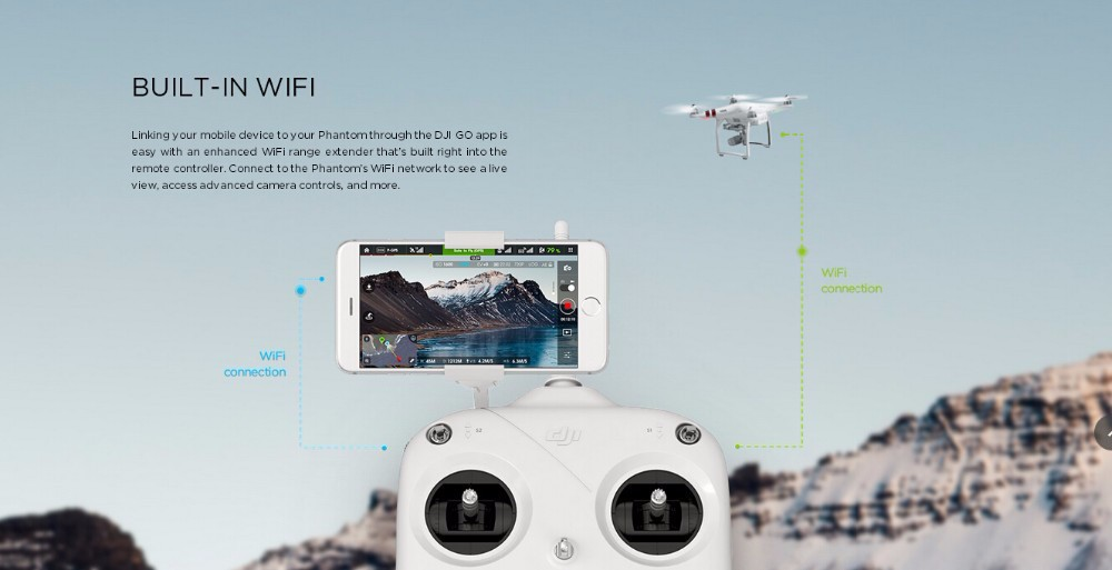 2016 DJI Phantom 3 Standard Version RTF FPV Drone With Camera 2.7K HD Gimbal Quadcopter RC Helicopter Drones Gift Fast Shipping