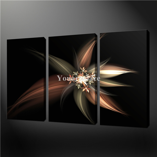 3 piece wall art painting pictures print on canvas black and white abstract flowers sepia black. Black Bedroom Furniture Sets. Home Design Ideas