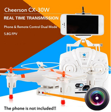Cheerson CX-30W 2.4GHz 4CH 6-Axis Gyro WiFi Real Time Video RC FPV Quadcopter Drone with 0.3MP HD Camera VS X5SW MJX X400 X600