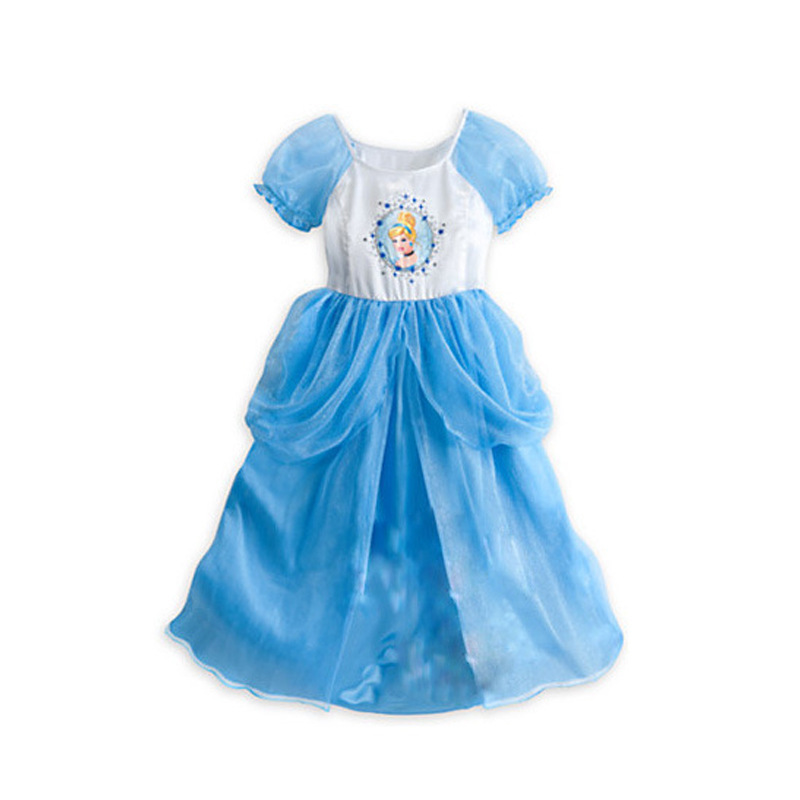 New Movie Sandy Princess Cinderella Cosplay Costume Kids Girls Party Fancy Dress Toddler Gril Birthday Wear Clothes(China (Mainland))
