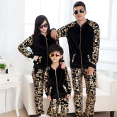 Family Clothing Sweater Set Mother Daughter Clothes Family Look Girl and Mother Father Baby Sport Set Suits Parent-child Outfit(China (Mainland))