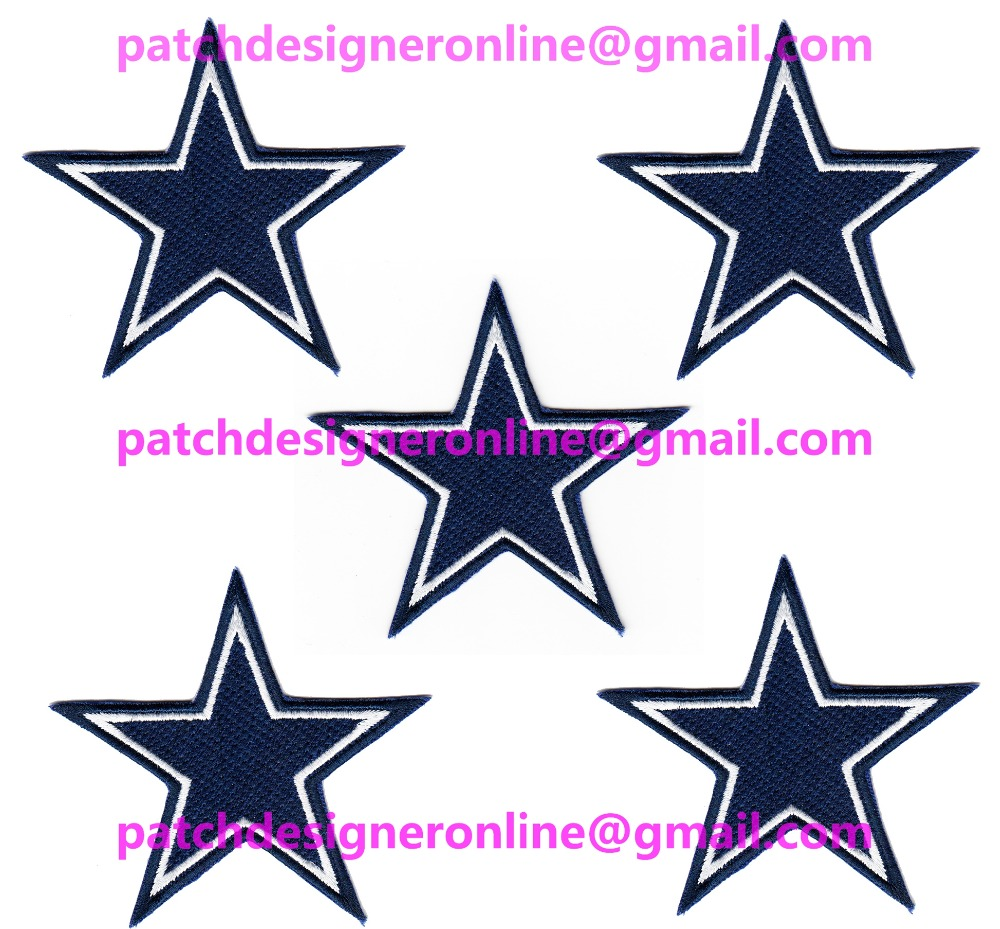 LOTS 5 PCS NEW FOOTBALL Dallas Jersey Sports Iron On sew on Embroidered Patch Badge 3.2'' x 3.5''(China (Mainland))