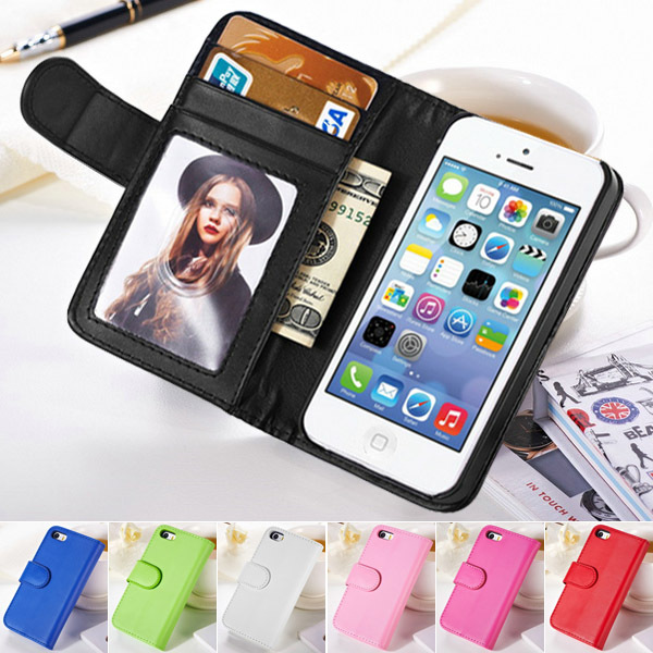 Luxury Wallet PU leather case iPhone 4 4S 4g Cases Flip Stand Cover Capinha Tomkas - BOB Technology Co.,Ltd store