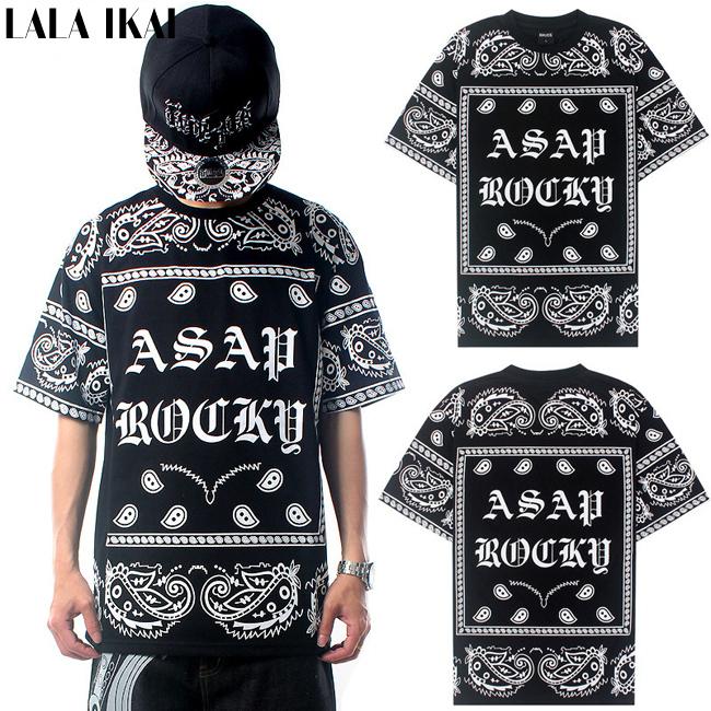 Urban Brands Tee Shirt Homme De Marque Bandana Flowers Cashew Print T-shirt Men Short Sleeve Hip Hop KTZ Tee Shirt Men SMB0382-5(China (Mainland))