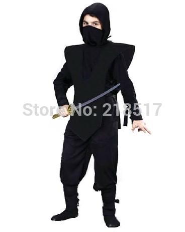 120,190 cm Negro Adulto Marciales Ninja ropa traje de Halloween Cosplay Espadachín Guerrero Etapa Traje Niños Traje traje de sam.