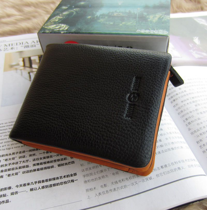 Free shipping Tough wallet male short design cowhide horizontal genuine leather wallet casual 1030(China (Mainland))