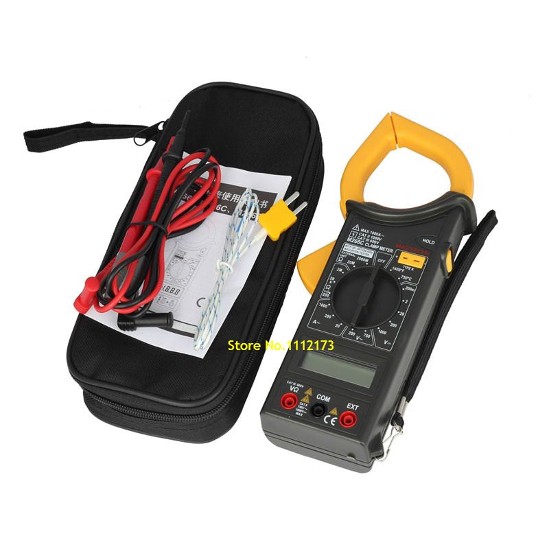 MASTECH MS266C Digital Clamp Meter Voltmeter Ohmmeter ACVoltage AC Current Resistance Temp Tester Detector with Diode multimeter(China (Mainland))