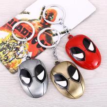 3 colors Marvel Deadpool top keychain toys set boy 2016 New alloy Anime Catoon figure gemstone pendant key ring pendant Key Ring