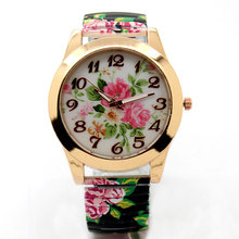Buy Hot Sale Promotion price Fashion Flower Round Dial Flexible stretch Band watch Quartz Wrist Bracelet Watch Women girl gift for $3.80 in AliExpress store