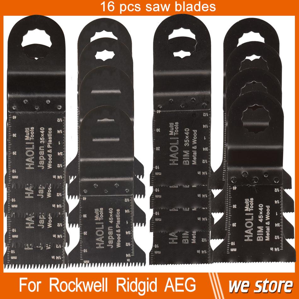 16 pcs mix  32-45mm Oscillating multi tool Saw Blade Accessories for Ridgid AEG Worx Multi master power tool ,wood metal cutting<br><br>Aliexpress