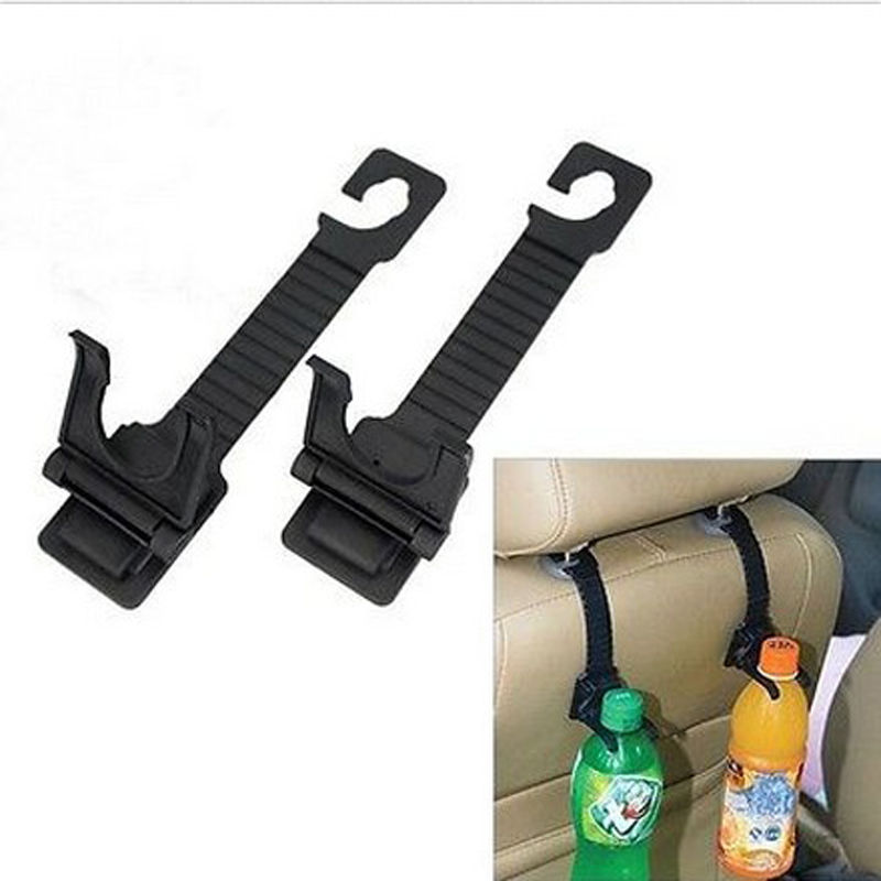 1 pair Auto Car Seat Back Hanger Bottle Bag Holder Hook Interior Accessories(China (Mainland))