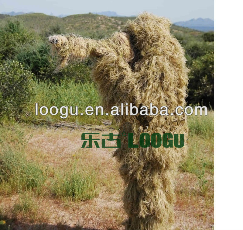 Camo ghillie yowie sniper tactical camouflage suit 4 hunting paintball ghillie suit on slae(China (Mainland))