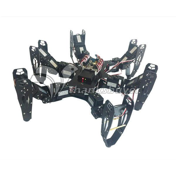 Robo-Soul CR-6 Hexapod Robtics Six-legged 18DOF Spider Robot Kit w/ 32CH Controller Digital Servo<br><br>Aliexpress