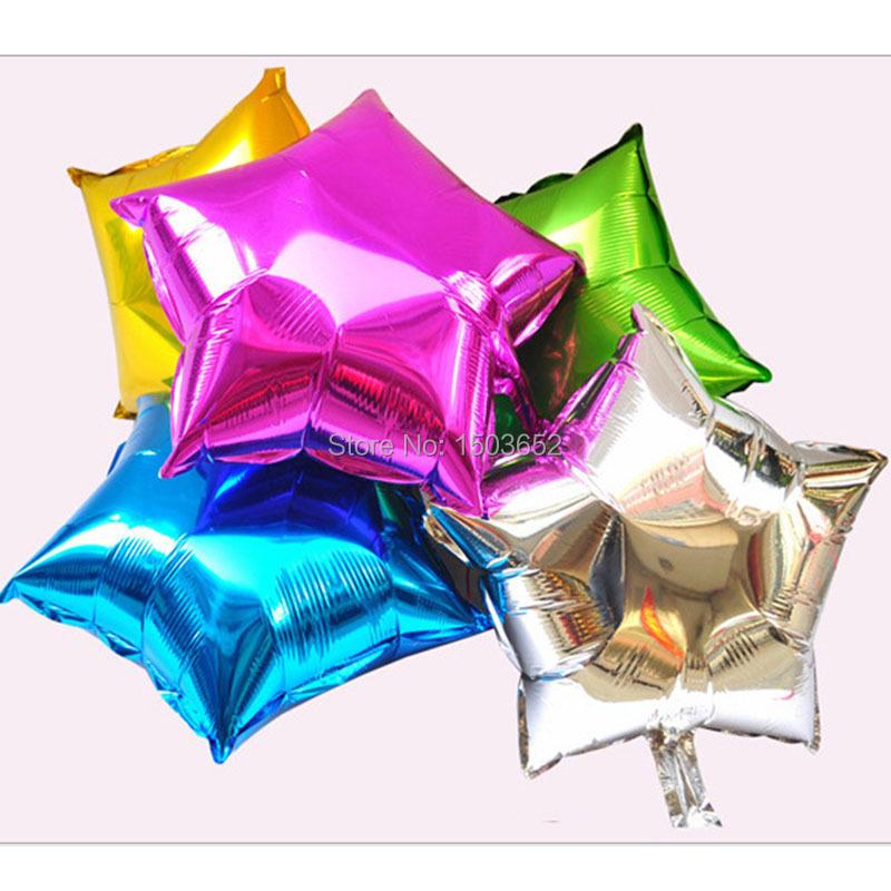 10 Inch Star Shape Aluminum Foil Balloons Wedding Party Decoration Helium Air Balloon Globos Inflatable Balls 10 Pcs / Lot(China (Mainland))