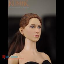 KUMIK 1/6 Head Sculpt Female Figure Head Model Lifelike Girl Head Carving Toys Fit 12″ Action Figure Collection Doll KUMIK16-8