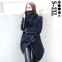 2015 Women Trench Coats Long Cashmere Overcoats Trench Desigual Down Jackets Designer Woman Wool Coats Fur Manteau Abrigos Mujer(China (Mainland))