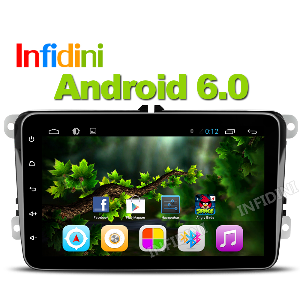 android 6.0 car dvd radio video gps player 2 din for vw polo golf tiguan jetta passat CC B5 gps 1024*600 in dash gps navigation(China (Mainland))