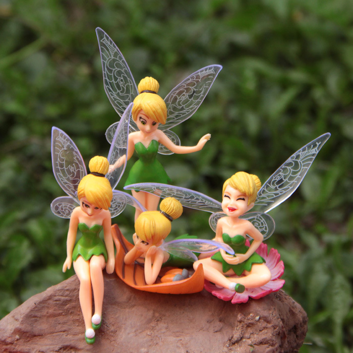 Hot ! 4pcs/set Toy Pixie Dust Princess beautiful faery micro landscape gardening fleshy DIY landscape decorations(China (Mainland))