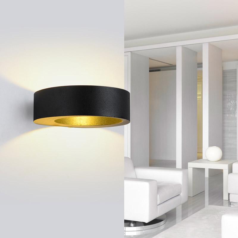led aluminum wall lamp modern minimalist living room. Black Bedroom Furniture Sets. Home Design Ideas
