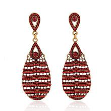2016 New Water Drop Plastic Women Earrings Fashion Retro Drop Beads Elegant Earrings Er-024725 Vintage Earrings for Women(China (Mainland))