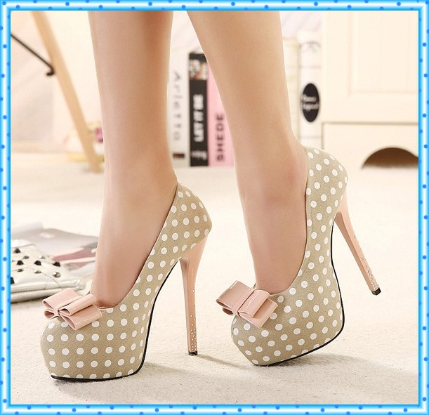 rhinestone pumps sexy high heels shoes bowknot woman platform shoes women pumps female shoes wedding women party shoes C820