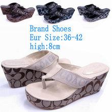 4COLORS Women's Sandals New 2014 Summer Bohemia Flower Flip Flops Platform Wedges For Women Platform Flip Slippers Beach Shoes(China (Mainland))