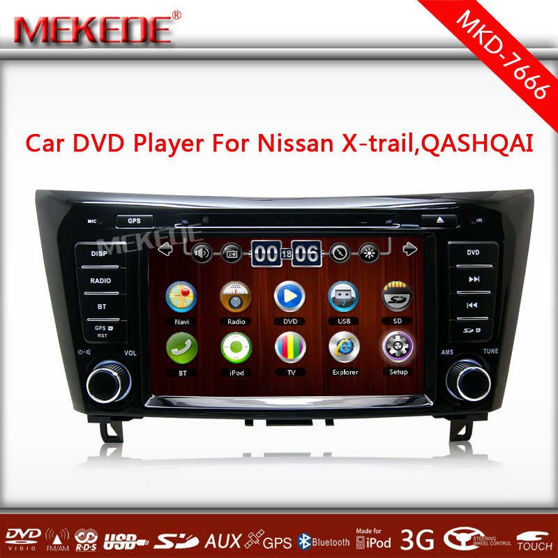 best price 8'' HD Car DVD GPS for Qashqai X-trail 2014 with MTK800MHZ Dual Core CPU support 1080p video 10EQ band wifi 3G ipod(China (Mainland))