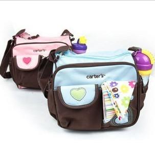 2016 New Sale Microfiber Bolsa Maternidade Bolsa Free Shipping Carter Small Diaper Bags,nappy Bags Mummy Two Colors-bule And(China (Mainland))