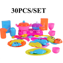 30pcs/set Kids Child Children Pretend Play Education Learn Kitchen Tool Accessories Cookware Pot Pan Toy Free Shipping