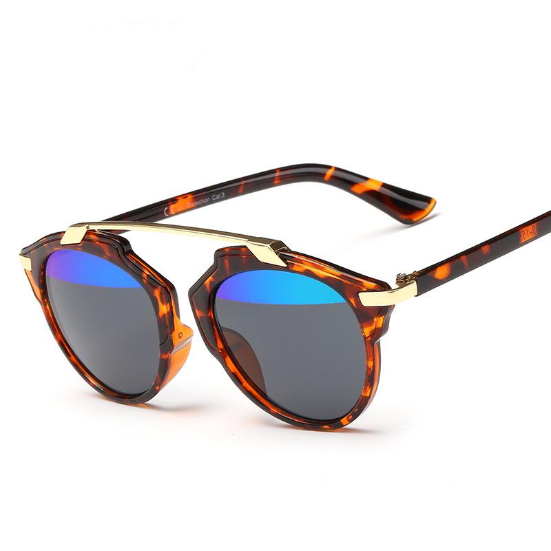 Fashion Sunglasses Women Cat Eye Sun glasses Famous Lady Brand Designer Twin-Beams Sunglasses Coating Mirror Glasses UV400 lens(China (Mainland))