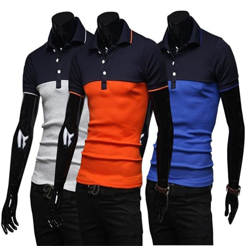 2016 new men collar polo shirt men clothing solid mens for Business casual polo shirt
