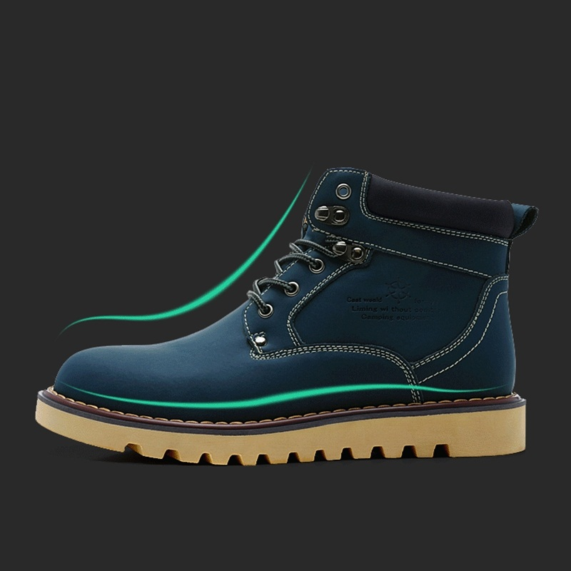 Hot Sale Fashion Lace Up Genuine Leather Western Cowboy Outdoor Work Tooling Shoes New Men Ankle Martin Boots A096(China (Mainland))