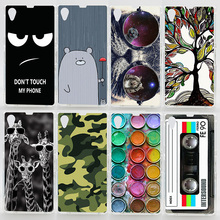 Case For Sony Xperia Z1 L39H C6902 C6903 C6906 Transparent Coloured Drawing Phone Cover For Sony Z1 Plastic Hard Phone Cases