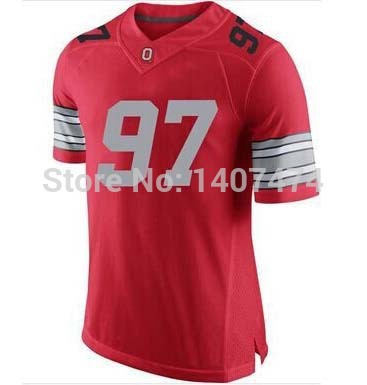 Exclusive High Discount Sales/ #97 Joey Bosa,Ohio State Buckeyes NCAA College Footballs Jerseys,2015 Patch New Playoff Jersey,Em(China (Mainland))