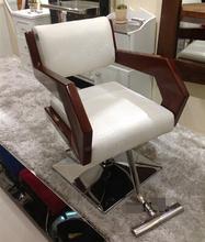 High-grade wood salon chair barber chair armrest Continental simple haircut salon chairs chair(China (Mainland))