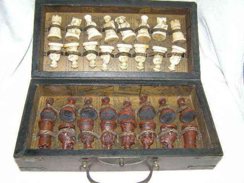 China Army Style 32 Pieces Chess Set Leather Wood Box Board & Traditional Game(China (Mainland))