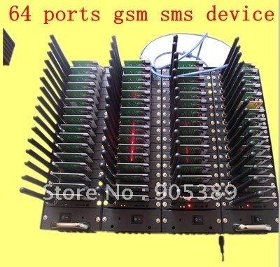 64 Ports q2403 usb sms gsm gprs sending Modem Pool with free sms software