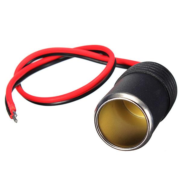 New 12/24V DC Female Car Cigar Cigarette Lighter Socket Plug Connector Adapter Cable(China (Mainland))