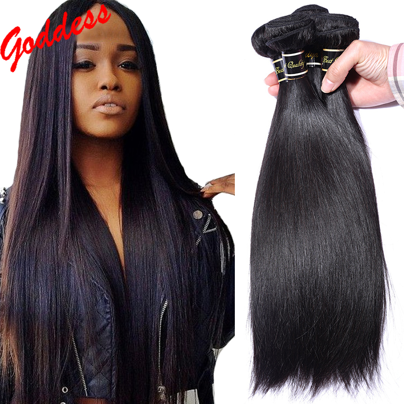 Unprocessed Rosa Hair Products indian virgin hair straight 100% Indian Remy Human Hair Extensions 3 bundles natural black hair