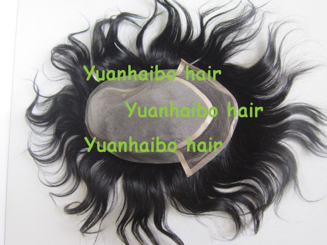 High Quality! 6inch #1b short afro kinky curl virgin indian hair lace with pu around toupee for men free shipping
