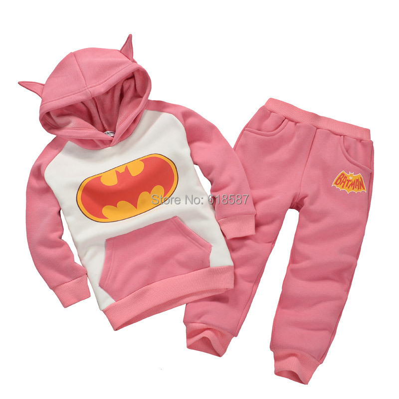 2016 spring children sports suit batman clothes sports costumes for kids hoodies coat + trousers boys outfit conjuntos infantis(China (Mainland))