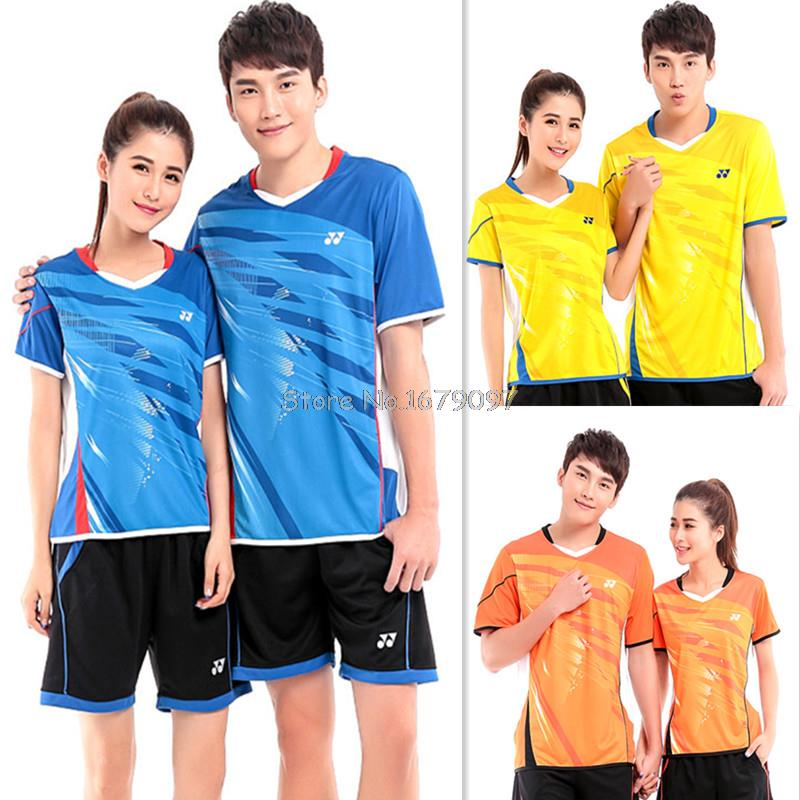 2015 NEW YY badmiton clothing, badminton sport suit, badminton clothes, Men's and Women's T shirt, 3 colors(China (Mainland))